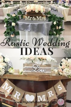 Rustic Wedding Ideas for Indoor wedding and custom DIYs on a budget. Tips and Tricks to have a rustic wedding on a budget and not break the bank.  #rusticwedding #rusticweddingideas #budgetwedding # budgetweddingideas