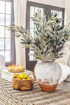 Why ditching traditional fall colors is a better decorating decision to stretch your dollars + the best neutral fall greenery and decor on sale. Inviting Home, Fire Table, Decorating On A Budget, Fall Decorating, Real Plants, Easy Diy Crafts, Fairy Lights, Greenery, Simple