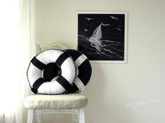Nautical Art Navy & White - Private Dock http://www.privatedock.eu/
