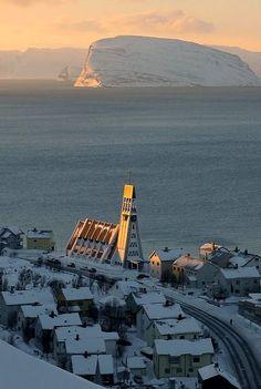 Winter sunrise in Hammerfest, Norway
