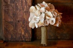 Vintage Book Page Flower Bouquet by SomethingElsePerhaps on Etsy, $49.00 #wedding #bouquet #paper #bride #bridal