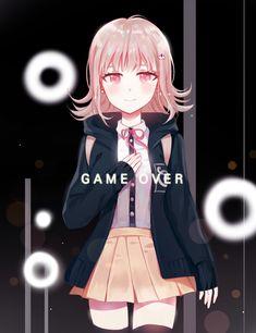 Danganronpa Memes, Danganronpa Characters, Fanart, Creepy Games, Nanami Chiaki, Anime Crossover, Female Anime, Anime Life, Female Characters