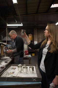 Miranda checking first batch after polishing.