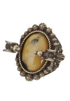 $14 Stone and Bird Statement Stretch Ring