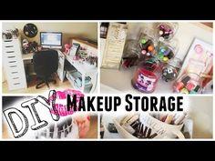 7 DIY Makeup Storage/Organizers - YouTube