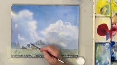 How to watercolor soft clouds by Deb Watson-Part 2
