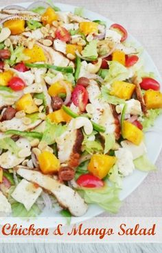 Bursting with flavor ! This Chicken and Mango Salad is perfect for lunch or a light dinner if you already had a rich lunch