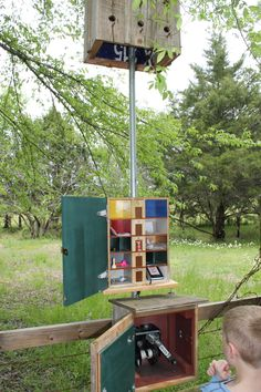 Now THIS is a travel bug hotel!   #geocaching #gogeocaching
