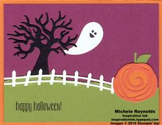 Handmade Halloween card using Stampin' Up! products - Spooky Fun Photopolymer…