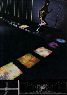 Fotó-elasztikus járda (Kepes György és William Wainwright), 1968 / Photo-elastic walk (Kepes György and William Wainwright), 1968