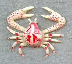 Lifelike Purple Globe Crab Replica