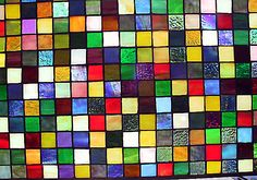 """This make me think of the book """"Enchanted Glass"""" by Diana Wynne Jones. Mosaic Coffee Table, Tile Panels, Glass Mosaic Tiles, Decorative Tile, Glass Garden, Stained Glass Windows, Colored Glass, Textures Patterns, Glass Bottles"""