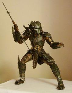 "McFarlane AVP Scar Predator 12"" action figure Aliens vs. Pr"