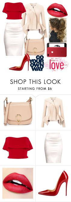"""""""RED"""" by natalie-ava-white ❤ liked on Polyvore featuring MICHAEL Michael Kors, Roland Mouret, Reem Acra and Christian Louboutin"""