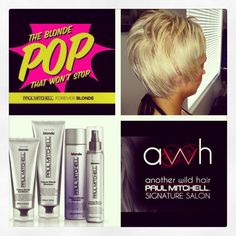 Come check out our new forever blonde line at AWH Another Wild Hair a signature Paul Mitchell salon.  911 N. Buffalo suite 105  Las Vegas, NV 89128