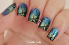 ErinZi's Nails They look like Butterfly Wings they look AWESOME :)