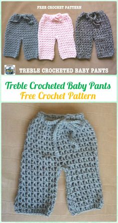 Crochet Treble Crocheted Baby Pants Free Pattern - Crochet Baby Pants Free Patterns