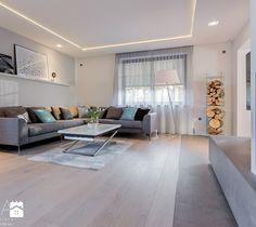 Aranżacja parteru domu jednorodzinnego. - Salon, styl nowoczesny - zdjęcie od TIKA Architektura wnętrz i krajobrazu