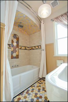 Honeycombs handmade tile from Mercury Mosaics
