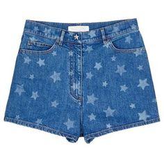 Valentino Star print denim shorts