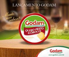 Queijo Prato (Cobocó) - Muito mais sabor! Acesse nosso site: www.godam.com.br