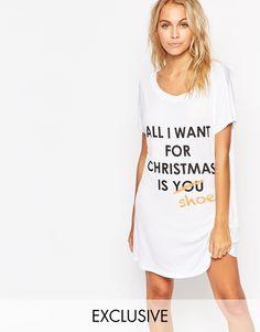 Image 1 ofAdolescent Clothing All I Want Christmas Gift Nightshirt