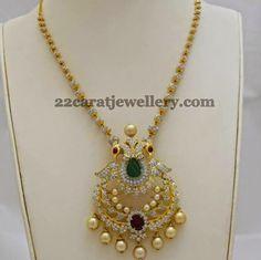 Jewellery Designs: Fancy Diamond Set by Totaram Jewellers