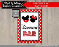 INSTANT DOWNLOAD Girl and Boy Mouse 5x7 Printable Dessert Bar Party Sign /Girl & Boy Mouse Collection / Item #2137 by DivinePartyDesign on Etsy