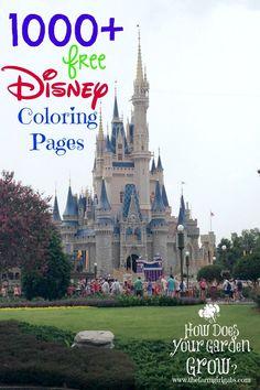 1000+ Free Printable Disney Coloring Pages for kids as seen on www.thefarmgirlgabs.com #DisneySide