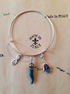 Italian Cornicello Chili Pepper Horn Statement Bracelet Lucky Charm Evil Eye | eBay