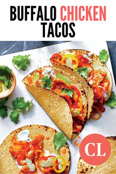 Your favorite appetizer just got upgraded to the dinner menu. These reinvented tacos check every craving box with less than a third of the sodium and half the fat of traditional Buffalo wings.