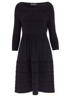 Black Stitch Knit Dress