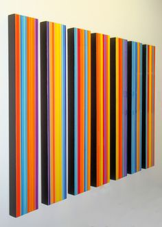 #colorful #stripes #wall #art  la vita felice, b