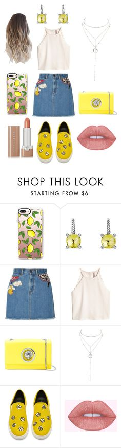 """""""Summer Casual Date Night"""" by cstephens-i ❤ liked on Polyvore featuring Casetify, David Yurman, Marc Jacobs, Versus and Charlotte Russe"""