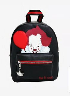 IT Chapter Two Pennywise Mini Backpack Backpack For Teens, Mini Backpack, Backpack Bags, It The Clown Movie, Red Balloon, Cute Backpacks, Cute Bags, Cool Items, Cute Jewelry