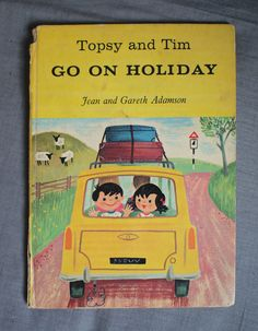 Rare 60s children books: Topsy and Tim - Go On Holiday.....Topsy and Tim are making a come-back! On CBeebies!! First published in 1959!