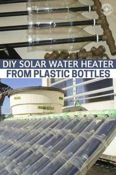 DIY Solar Water Heater From Plastic Bottles - Jose Alano is a retired mechanic that lives in Brazil. Solar Energy Panels, Best Solar Panels, Solar Energy System, Solar Power, Wind Power, Diy Heater, Diy Solar Water Heater, Shop Heater, Diy Upcycling