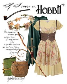 """""""If I were a Hobbit"""" by ghsdrummajor ❤ liked on Polyvore featuring Looking Glass, Miss Selfridge, eliurpi, Mossimo, KING, lotr, hobbit and tolkien Fandom Outfits, Cosplay Outfits, Casual Cosplay, Cosplay Costumes, Nerd Fashion, Fandom Fashion, Disney Style, Disney Inspired Outfits, Disney Outfits"""