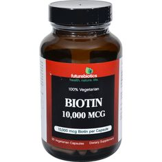 Futurebiotics Biotin - 10000 Mcg - 90 Vegetarian Capsules
