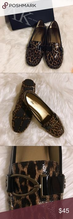 🆕Anne Klein iFlex Patent Loafers Anne Klein Animal Print iFlex Loafers. Features Silver Buckle Detail, Manmade Patent Leather & Comfort iFlex Sole. Only worn to try on. Excellent Used Condition. Anne Klein Shoes Flats & Loafers
