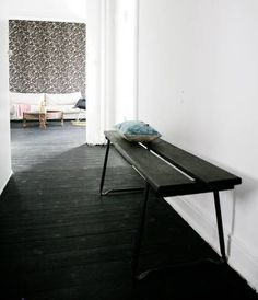 Black floor and bench