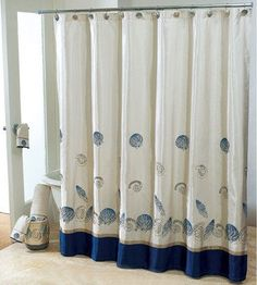 Interior Place - Shower Curtain Hampton Shells, $48.95 (http://www.interiorplace.com/shower-curtain-hampton-shells/)