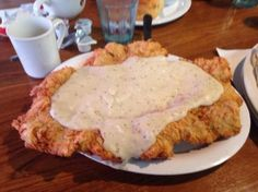 The BEST CHICKEN FRIED STEAK IN THE UNIVERSE! Courtesy of Kelley's Country Cookin', League City, Texas