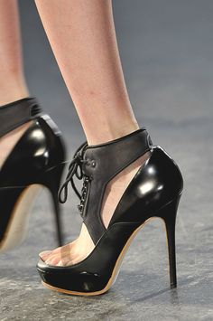 Acne Shoes Black Ankle Strap Pumps Fall 2012 #Heels