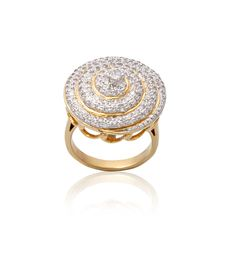#Amazing #Gold And #Diamond Ring !!  Creating and Forecasting fine Jewelry made with Passion, Pride and Integrity to suit the individual.  G.Wt 7.26 With round shaped Diamonds SI-GH  INR 56825 Only Shop now #Carati #Jewels
