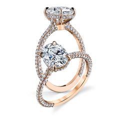Check out the deal on Custom Micro-pave set oval cut Forever One moissanite and diamond engagement ring at MoissaniteBridal.com