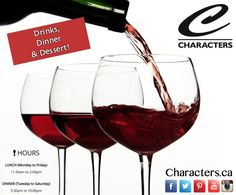 #TGIF it's time to relax! Have a great weekend, we hope to see you! #CharactersFood #YegDT