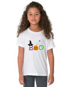 Kids halloween shirt, ghost, witch, pumpkin, BOO, holiday shirts, long sleeve, short sleeve