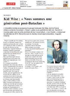 Kid Wise dans La Dépêche (édition Toulouse) le 11 janvier 2017
