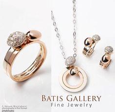 Luxe Brilliant Set Rose Gold - Pendant - Earring & Ring Price ~ 4/900 million Code : N 459